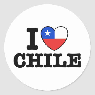 Eu amo o Chile Adesivo