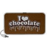 Eu amo o chocolate caixinhas de som para notebook
