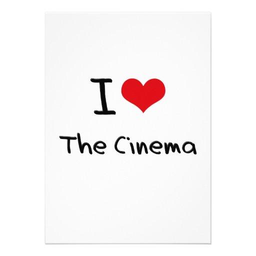 Eu amo o cinema convite personalizado