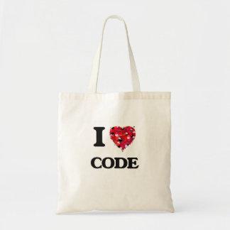 Eu amo o código sacola tote budget