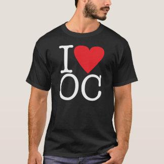 Eu amo o Condado de Orange (branco/vermelho) Camiseta