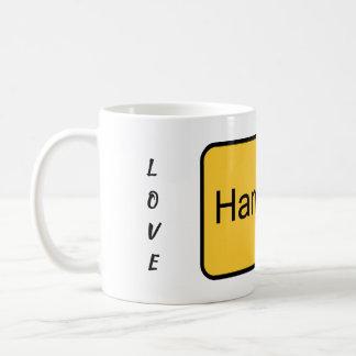 Eu amo o copo da caneca de Hamburgo