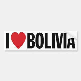 """Eu amo o coração Bolívia decalque do vinil de 11"""" Adesivo Para Carro"""