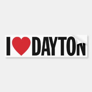 """Eu amo o coração Dayton decalque do vinil de 11"""" Adesivo Para Carro"""