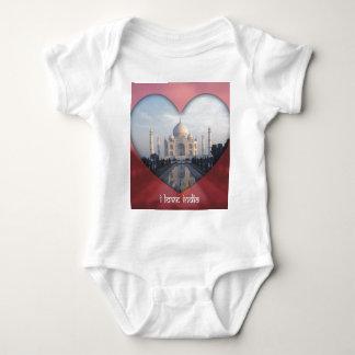 """""""Eu amo o coração de India"""" Taj Mahal Camiseta"""