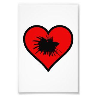 Eu amo o coração do vermelho da silhueta dos impressão de foto