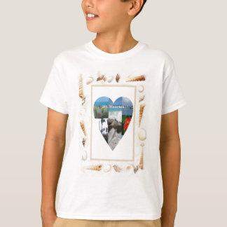Eu amo o coração dos escudos do St. Maarten -. Camiseta
