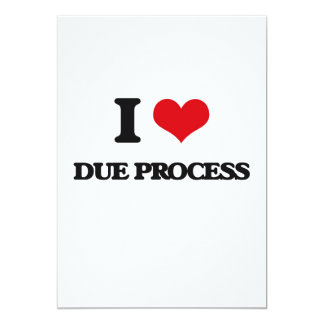 Eu amo o correspondente processo convite 12.7 x 17.78cm