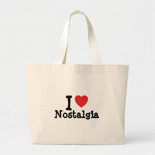 Eu amo o costume do coração da nostalgia personali bolsas de lona