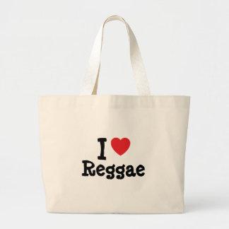 Eu amo o costume do coração da reggae personalizad bolsa