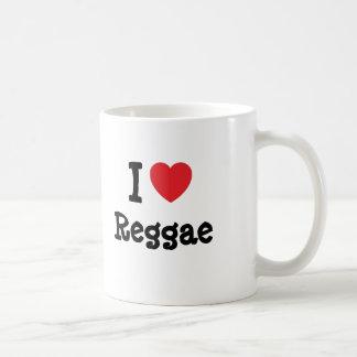 Eu amo o costume do coração da reggae personalizad caneca