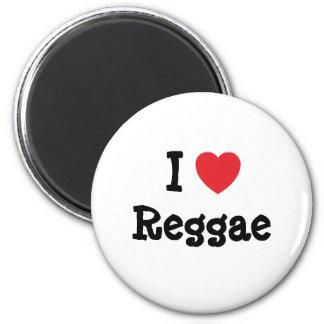 Eu amo o costume do coração da reggae personalizad imã