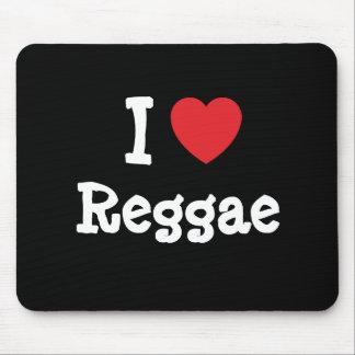 Eu amo o costume do coração da reggae personalizad mouse pads