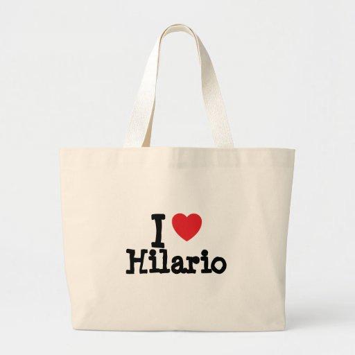 Eu amo o costume do coração de Hilario personaliza Bolsas De Lona