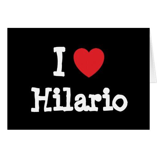 Eu amo o costume do coração de Hilario personaliza Cartoes