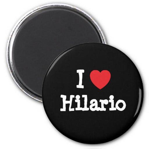 Eu amo o costume do coração de Hilario personaliza Imãs De Refrigerador