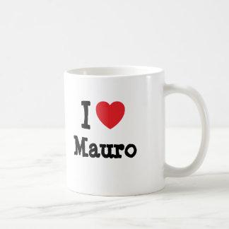 Eu amo o costume do coração de Mauro personalizado Caneca