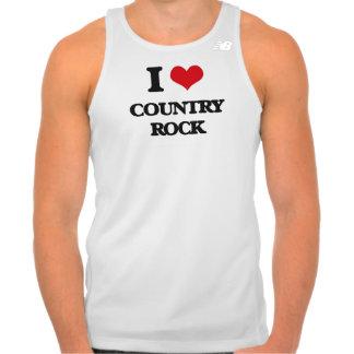 Eu amo o COUNTRY ROCK Camiseta