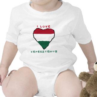 Eu amo o Creeper da criança de Keresztanya Macacãozinhos Para Bebê