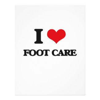 eu AMO o cuidado de pé Panfleto Personalizados