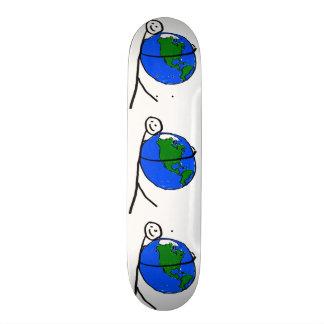 Eu amo o desenho das minhas crianças da terra pelo shape de skate 18,4cm