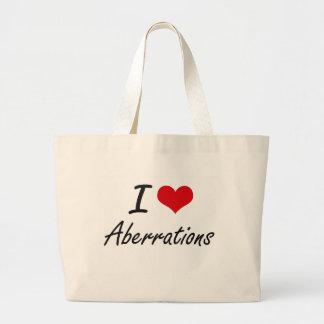 Eu amo o design artístico das aberrações sacola tote jumbo
