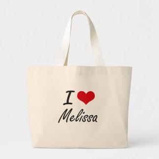 Eu amo o design artístico de Melissa Sacola Tote Jumbo