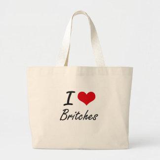 Eu amo o design artístico do Britches Sacola Tote Jumbo