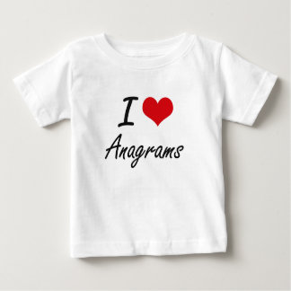 Eu amo o design artístico dos anagramas tshirts