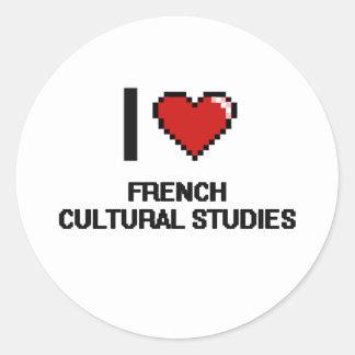 Eu amo o design cultural francês de Digitas dos Adesivo