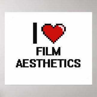 Eu amo o design de Digitas da estética do filme Poster