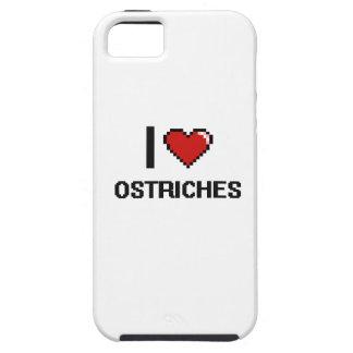 Eu amo o design de Digitas das avestruzes Capas Para iPhone 5