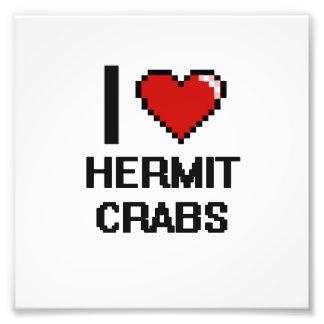 Eu amo o design de Digitas dos caranguejos de Impressão De Foto