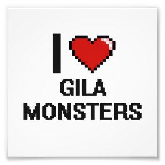 Eu amo o design de Digitas dos monstro de Gila Impressão De Foto