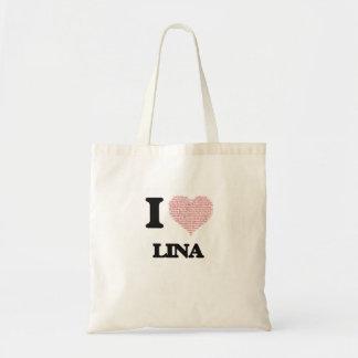 Eu amo o design de Lina (coração feito das