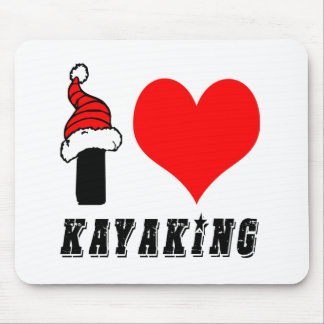 Eu amo o design Kayaking Mousepads