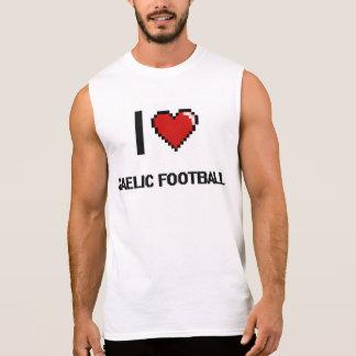 Eu amo o design retro de Digitas do futebol Camisas Sem Manga