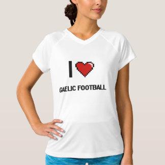 Eu amo o design retro de Digitas do futebol Tshirts