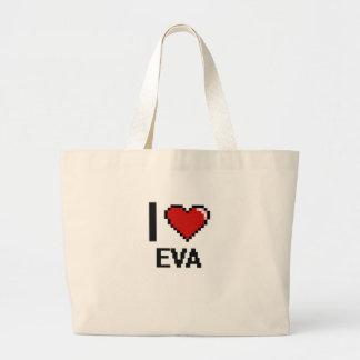 Eu amo o design retro de Eva Digital Sacola Tote Jumbo