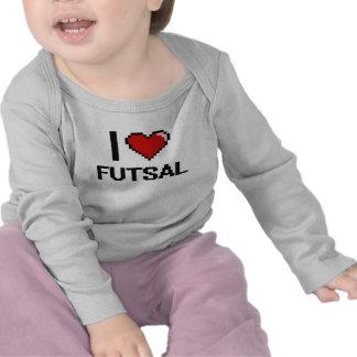 Eu amo o design retro de Futsal Digital Tshirts