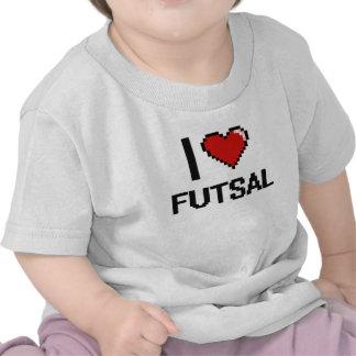 Eu amo o design retro de Futsal Digital