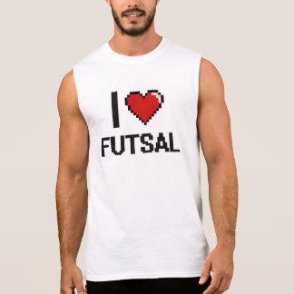 Eu amo o design retro de Futsal Digital Camiseta Sem Manga