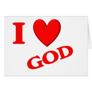 Eu amo o deus cartão