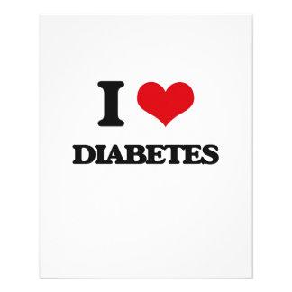 Eu amo o diabetes panfletos personalizado