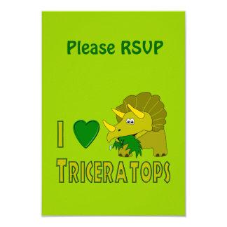 Eu amo (o dinossauro bonito do Triceratops do Convites Personalizado