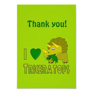 Eu amo (o dinossauro bonito do Triceratops do Convite 8.89 X 12.7cm