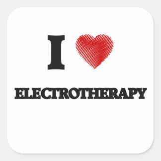 Eu amo o ELECTROTHERAPY Adesivo Quadrado