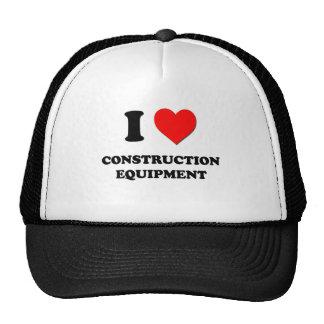 Eu amo o equipamento de construção boné