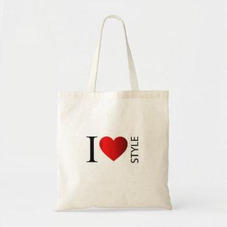 Eu amo o estilo sacola tote budget