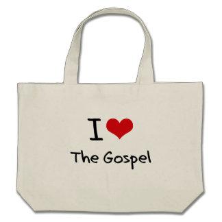 Eu amo o evangelho bolsas de lona